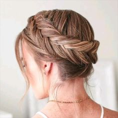 Braided Hairstyles Updo, Easy Hairstyles For Long Hair, Beautiful Hairstyles, Curly Prom Hair, Long Thin Hair, Summer Braids, Braids For Black Hair, Trending Hairstyles, Braids With Beads