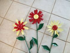 Tin can flowers - directions for making