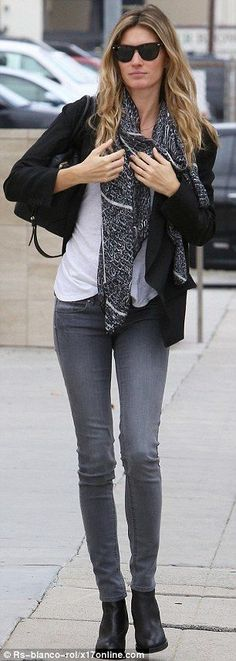 Legs eleven... and then some! Gisele Bündchen shows off her very slim pins as she walks around Santa Monica on Tuesday