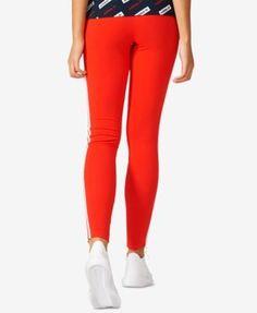 adidas Originals Three-Stripe Leggings - Red XL