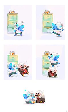 Honestly, I'm not too familiar with all the AU Sans but this is pretty darn adorable