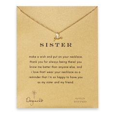 Sister Gifts: sister hummingbird necklace, gold dipped #Dogeared #ShareTheHappy