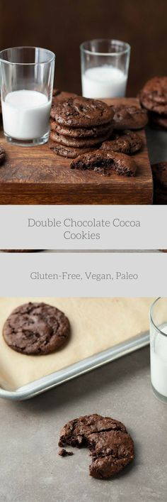 A dark and chewy cocoa cookie with big chunks of chocolate. There's nothing quite as tempting as the sweet smell of freshly baked cookies wafting through the house, even more so if those cookies ha…