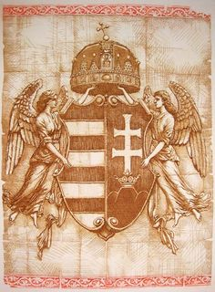 Crest of Austria-Hungary Hungarian Tattoo, Hungary History, Ww2 Pictures, Dad Tattoos, Heart Of Europe, Angels And Demons, Budapest Hungary, My Heritage, Illustrations And Posters