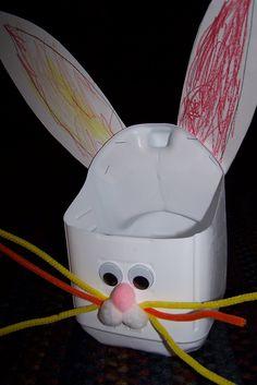 Milk jug Easter bunny basket