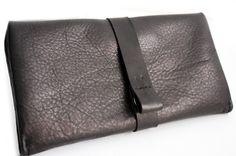 Portafoglio Ely, portafoglio in pelle di colore nero, portafoglio da donna, portafoglio personalizzato con iniziali. Ely LEATHER WALLET di Genuinemyself su Etsy