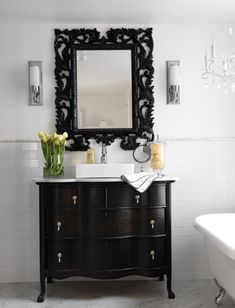Modern Victorian Bathroom Design Dark Wood Bathroom Modern Bathroom White Bathroom Beautiful Bathrooms