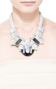 Crema Nova Silicone and Beaded Necklace by Ek Thongprasert - Moda Operandi
