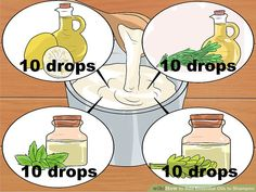 How to add essential oils to shampoo (Wikihow)