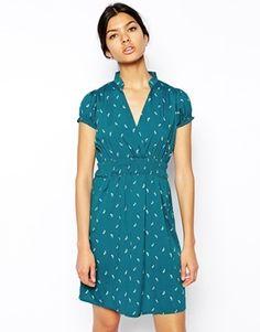Lovestruck Deirdre Dress in Origami Bird Print - dress for pear body shape
