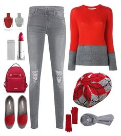 """""""Winter"""" by im-karla-with-a-k on Polyvore featuring Marni, 7 For All Mankind, Django & Juliette, WithChic, Lipstick Queen, Joe Fresh and Care By Me"""
