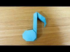 折り紙「音符」の折り方 - YouTube
