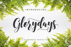 Glorydays from FontBundles.net