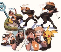 Pokémon, Spark (Pokémon GO), Pikachu, Male Protagonist (Pokémon GO)