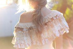 silk vintage lace collar vintage lace silk cotton by RawHemline