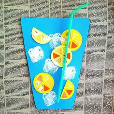 Craft Time {Paper Lemonade} for August Calendar topper idea