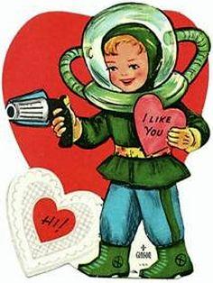 I Like You... Space Age Valentine