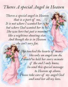Angel In Heaven Quotes, Angels In Heaven, Heavenly Angels, Heaven Poems, Sister In Heaven, Loved One In Heaven, Missing Someone In Heaven, I Miss My Daughter, Miss You Mom