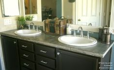 concrete countertops bathroom | Pneumatic Addict : DIY Concrete Countertop With Sink Openings