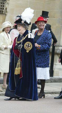 Baroness Thatcher and Carol attend the Garter Ceremony in Windsor in June 2006 The Iron Lady, Daisy Lowe, Marianne Faithfull, Jamie Campbell Bower, Margaret Thatcher, Isabel Ii, Helena Bonham Carter, Eddie Redmayne, Lulu Guinness