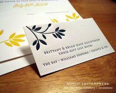 Registry Card Precedent Similar Style For Wedding Attire As Well