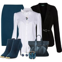 Skirt Outfit & Suede Boots, created by mozeemo on Polyvore