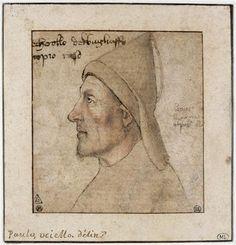 """""""Retrato de hombre de perfil"""" de Paolo Uccello (1397-1475, Italy)"""