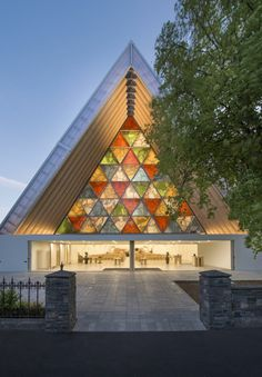 The Transitional 'cardboard' Cathedral design by Shigeru Ban