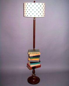 Antique Book Floor Lamp Antique Floor Lamps, Antique Books, Table Lamp, Geek, Canning, Lighting, Chic, Antiques, Room