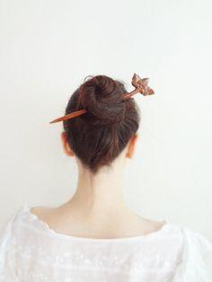 sakura blossom Geisha hair stick by theancientmuse on Etsy