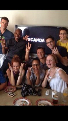 Scandal cast I love this picture...Mellie looks so cute lol I didn't get mad when i saw her!