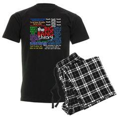 Big Bang Quotes Mens Dark Pajamas Funny Mens Dark Pajamas by CafePress - L With Checker Pant