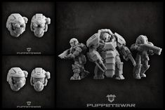 Two new heads sets are available: https://puppetswar.eu/product.php?id_product=775 https://puppetswar.eu/product.php?id_product=774