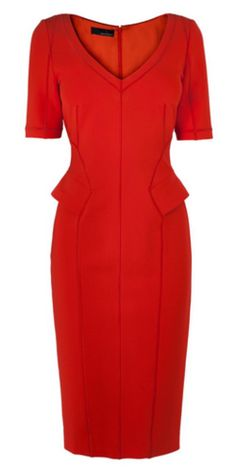 AMANDA WAKELEY - Susara Papaya Dress - Hire £39