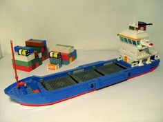 Microscale Freight Liner Boat