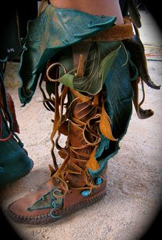 NEW   Knee High Evolution Moccasins by TreadLightGear on Etsy, $800.00