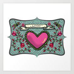 love  Art Print by Dachie - $15.00