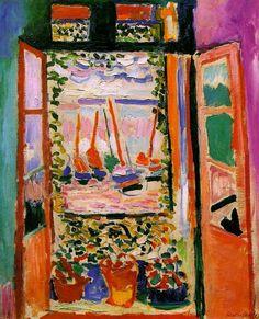 Ventana abierta, Collioure (1905) de Matisse es uno de los precedentes de los trabajos de interior - exterior de Raoul Dufy #dufy