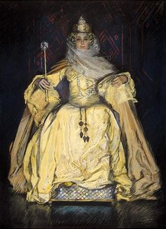 ▴ Artistic Accessories ▴ clothes, jewelry, hats in art - Edwin Austin Abbey