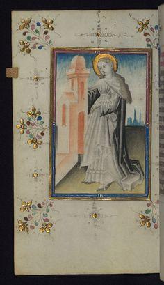 Illuminated Manuscript, Book of Hours, St. Barbara, Walters Art Museum Ms. W.165, fol. 127v by Walters Art Museum Illuminated Manuscripts, via Flickr