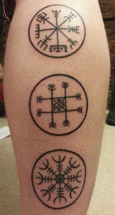 Icelandic Magical Staves- Vegvísir, Máladeilan, and Ægishjálmur . Valkerie Tattoo, Tattoo Cover, Tattoo 2017, Rune Tattoo, Epic Tattoo, Norse Tattoo, Tatoo Art, Celtic Tattoos, Viking Tattoos