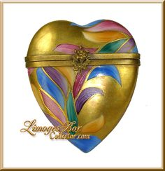 gold heart Limoges box