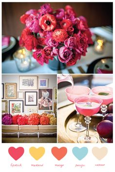 vibrant summer hues via The Sweetest Occasion #colorschemes