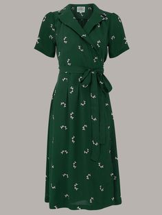 Style Dresses Dress Swing Dress The Seamstress of Bloomsbury Authentic Vintage Inspired Peggy Wrap Dress in Green Doggy by UK 16 UK 16 UK 10 7900 AT 1940s Fashion Dresses, 1940s Dresses, Modest Fashion, Retro Fashion, Trendy Fashion, Vintage Fashion, Fashion Outfits, Dress Fashion, Club Fashion