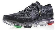 b9c97e79ec99c Nike Air VaporMax Flyknit BHM Black White Pale Grey Metallic Gold AQ0924-007  Popular Sneakers