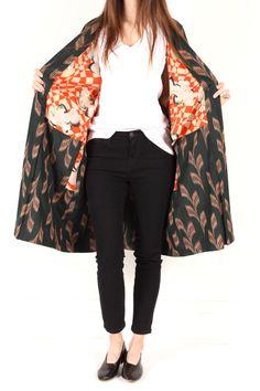 vintage black kimono haori jacket / shopcollect