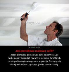 Jeżeli planujesz pomalować sufit to pamiętaj, że farbę należy nakładać zawsze w kierunku światła lub prostopadle do głównego okna w ...