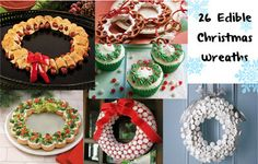 - Appetizer wreath from Julia Usher - Marshmallow and popcorn wreaths from Food Network - Still have tons of leftover Hallo. Holiday Treats, Christmas Treats, Christmas Baking, Kids Christmas, Holiday Recipes, Christmas Foods, Holiday Foods, Christmas Recipes, Chrismas Party Food