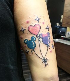 Disney balloon tattoo