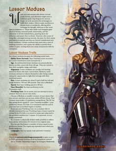 Dungeons And Dragons Classes, Dungeons And Dragons Homebrew, Fantasy Races, Fantasy Art, D D Races, Dnd Classes, Dungeon Master's Guide, Fantasy Female Warrior, Dnd 5e Homebrew